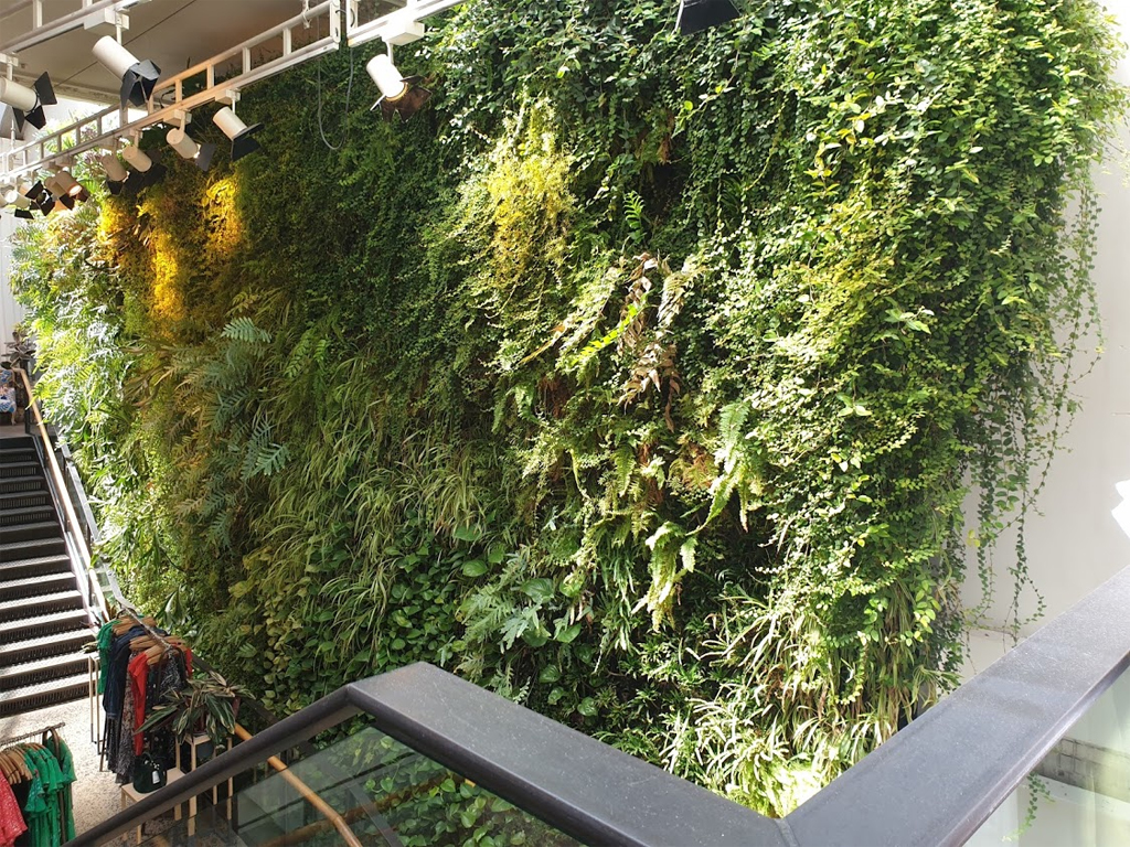 A vertical garden is very on trend, both inside and outside
