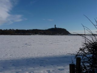 View from our back garden across to Wallace Monument
