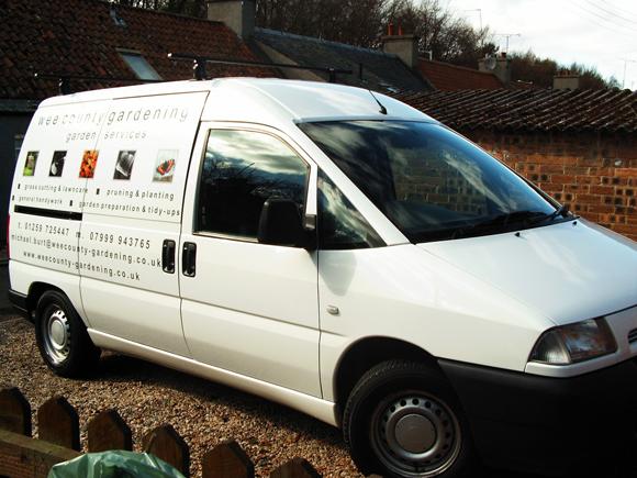 The Wee County Gardening van