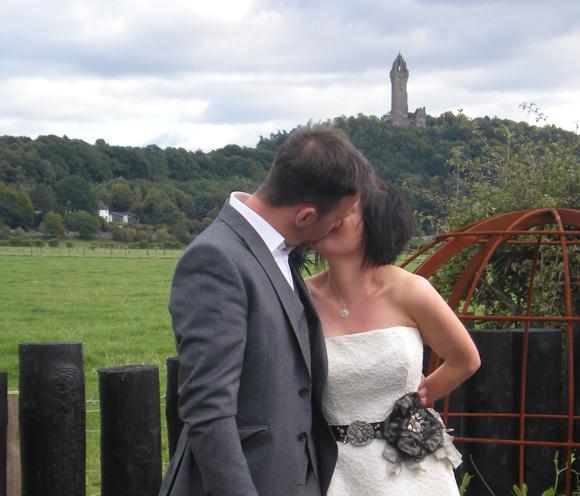 We got married in our garden in 2010