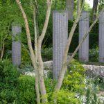 The columns in Cleve West's garden