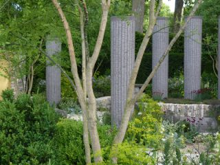 The columns in Cleve West's garden