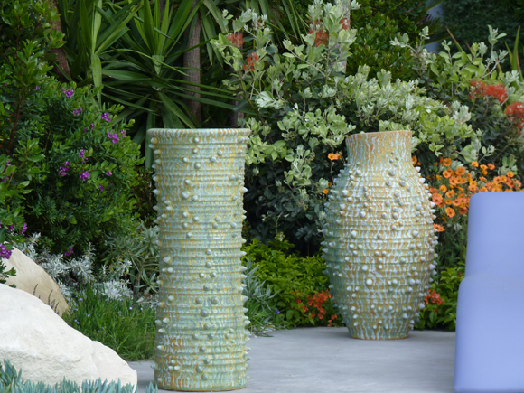 Bespoke pots for the Monaco garden