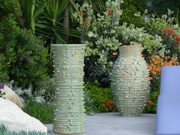 Bespoke pots for the Monaco garden