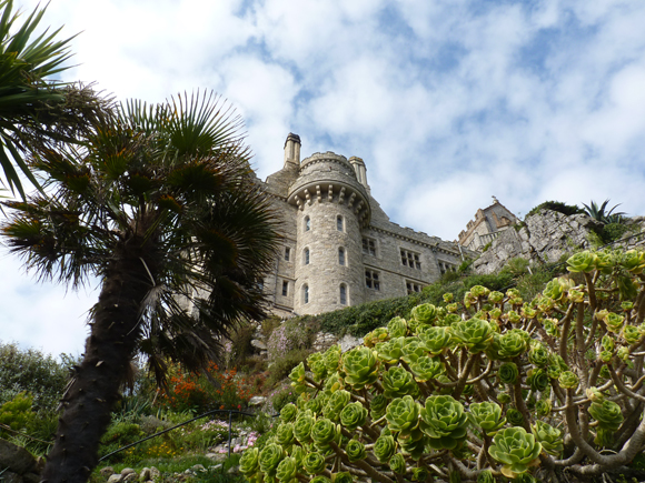 The view of the Castle up through the gardens
