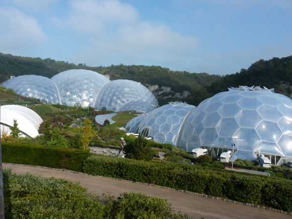 The biodomes are like aliens rising out of the land