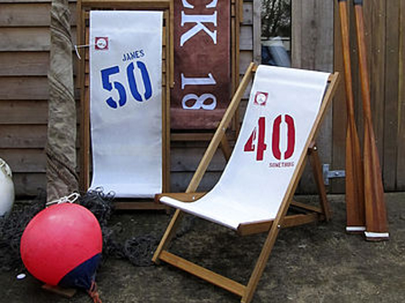 Recycled deck chairs