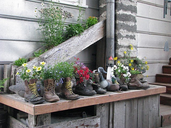 Boots can be great planters