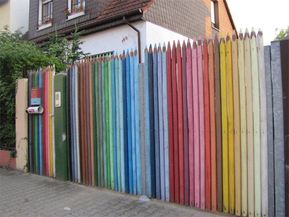 How to build a fence: a cool pencil fence