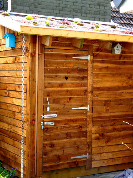 The completed shed