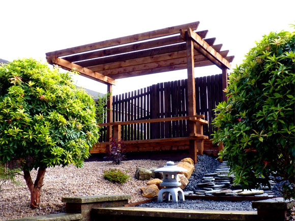 A Japanese garden we designed and built in 2012