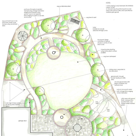 Review of 2012: Our design for an Arts & Crafts garden in Perth