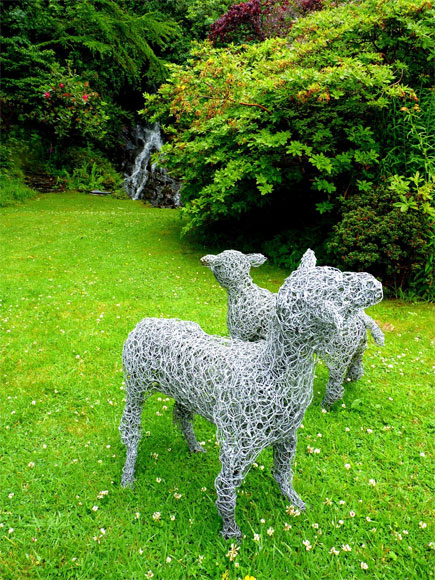 Lovely wire sheep keeping the grass down at An Cala