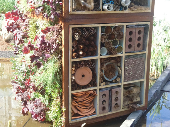 A stunning bug hotel from the Chelsea Flower Show