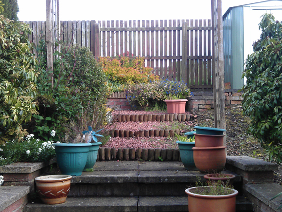 Before: the garden desperately needed a makeover