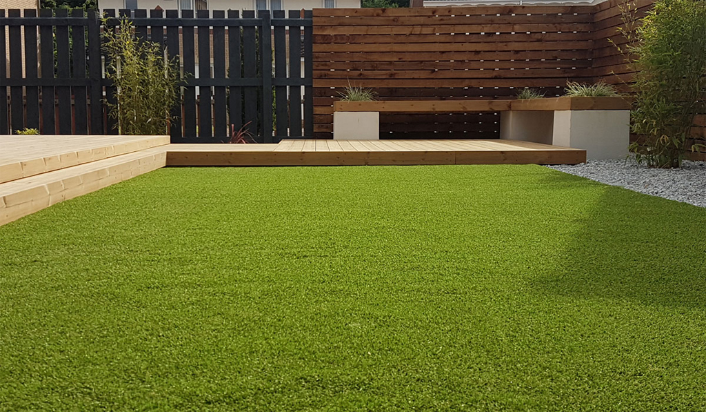 Artificial grass is an option to overcome issues of a sodden lawn