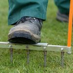 Aerating your lawn will help keep bogginess at bay