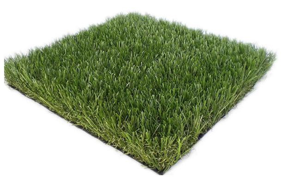 Artificial turf is much more realistic these days and even has little pieces of thatch to add to the realism!