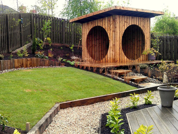 "The garden ""pod"" is a strong feature of this garden"
