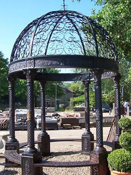 The gazebo is a central feature of the design