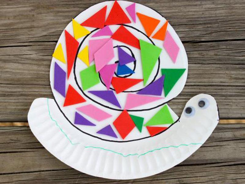 Make A Paper Plate Snail