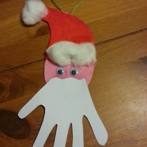 Our Santa Hand Christmas tree decoratio