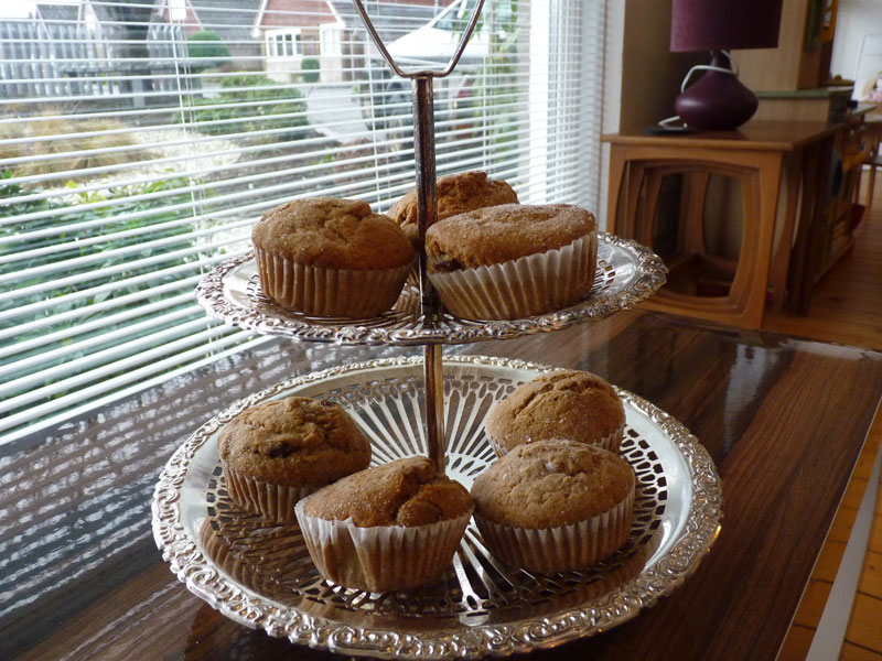 Yummy carrot & pineapple muffins, ready for my birthday party!