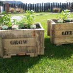 Personalised, bespoke pallet planters