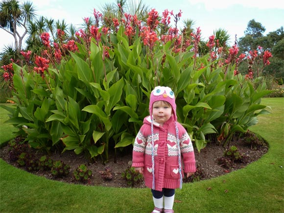 Lulu providing a tour of Logan Botanic Gardens