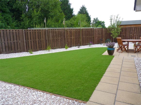 Artificial turf can transform an area where real grass struggles