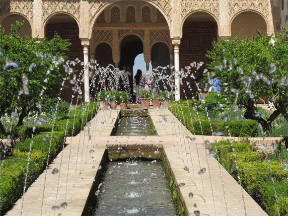 The Generalife gardens at the Alhambra