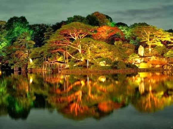 The Rikugien Gardens in Japan