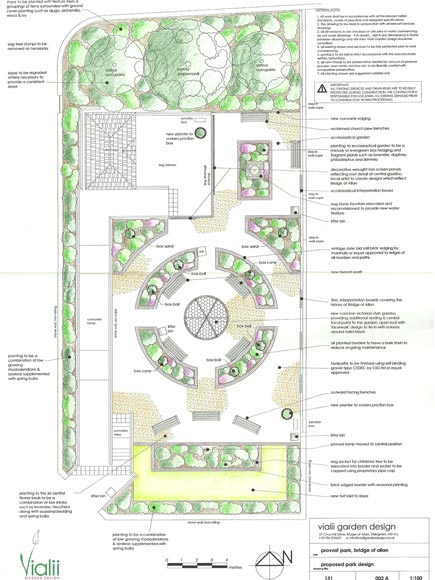 The design for the new Provost's Park