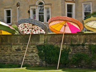 Beautiful garden parasol