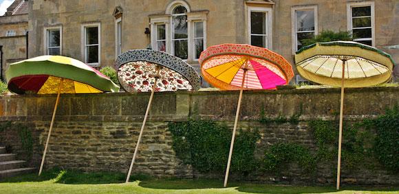 Beautiful garden parasol