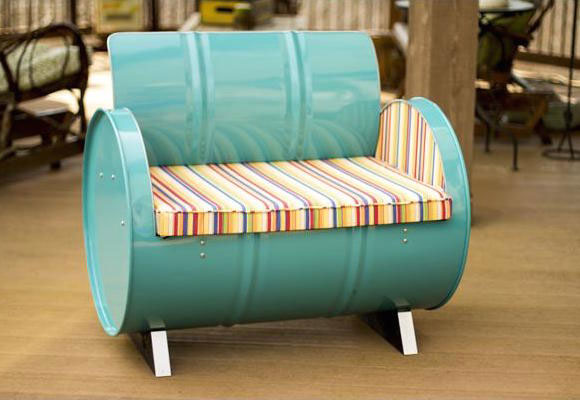 This up-cycled chair has a great art deco vibe