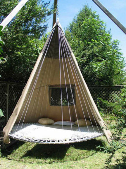 What a great way to use a discarded family trampoline