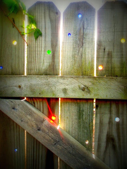 Marbles in a gate, an easy project for Go Green Week
