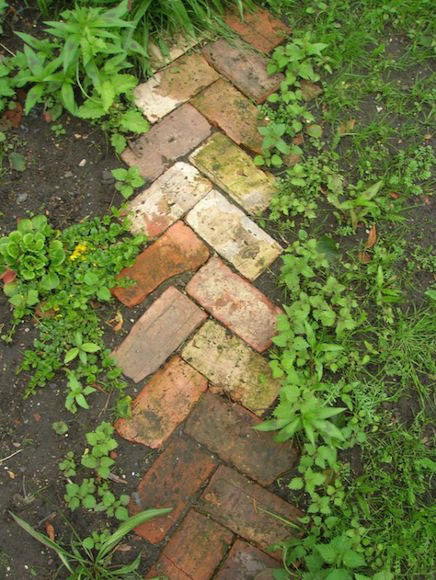 Old bricks can make a simple but effective pathway