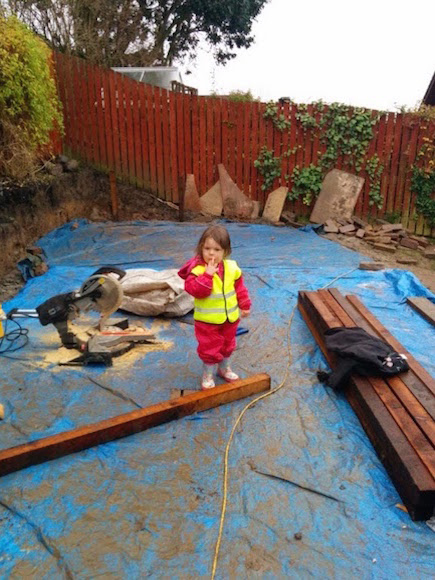 Lulu's site inspection to check for muddy puddles