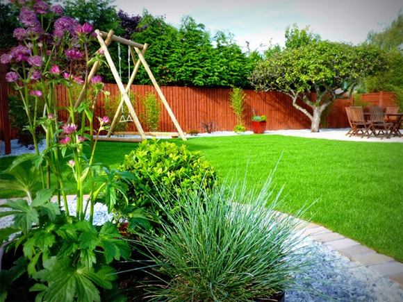 Newly laid turf can help transform your garden