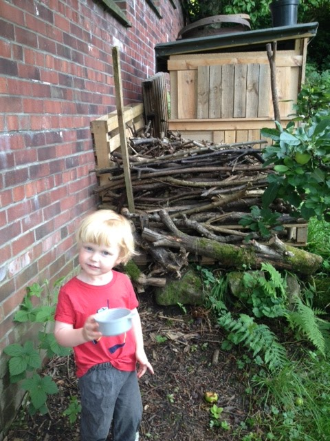 Euan found the perfect location for a spot of seed bombing!