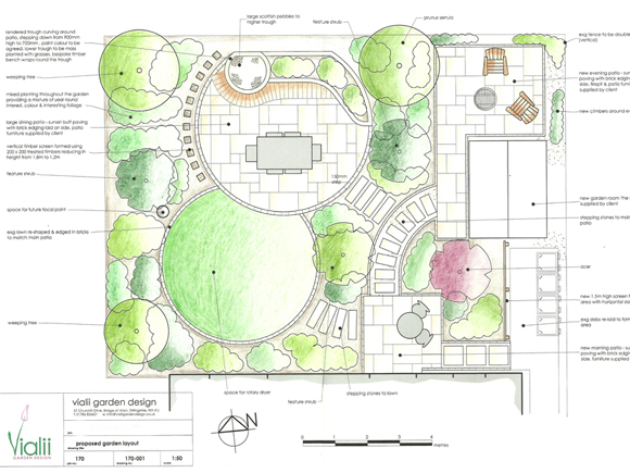 A design for a phased garden in Stirling