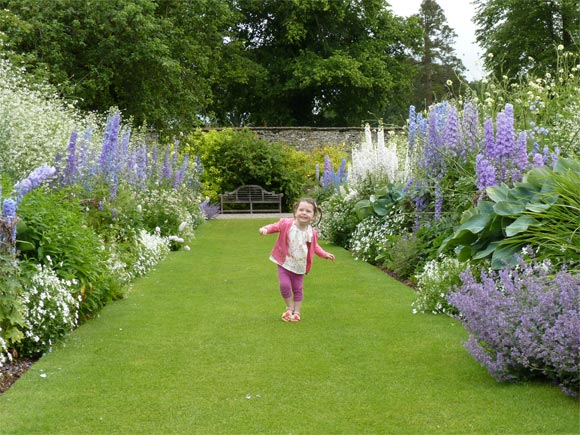 Herbaceous border at Levens Hall