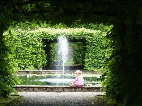 Water features at Levens Hall