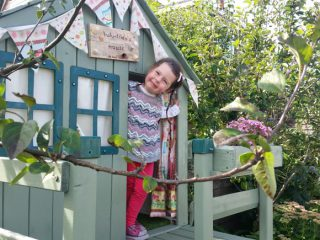 Lulu and her garden playhouse