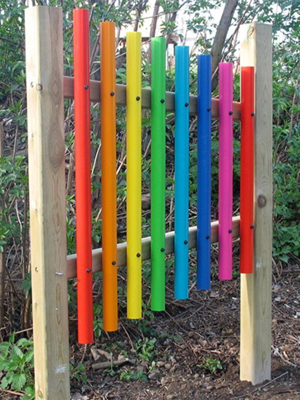 An outdoor xylophone