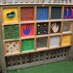A sensory wall with lots to explore