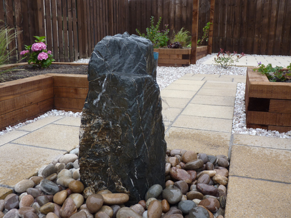 Standing stone water feature