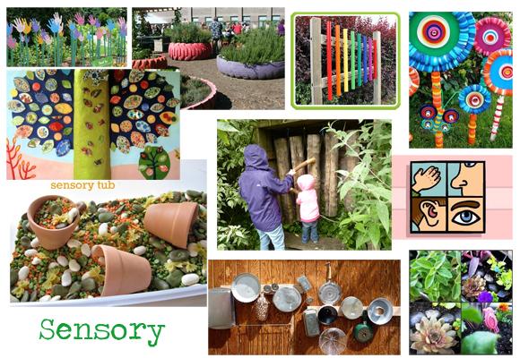 Sensory garden moodboard